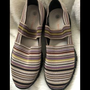 Bernie Mev striped shoes